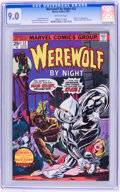 Bronze Age (1970-1979):Horror, Werewolf by Night #32 (Marvel, 1975) CGC VF/NM 9.0 Off-whitepages....