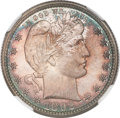 Barber Quarters, 1892 25C MS67 NGC. CAC....