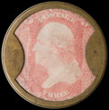 Encased Postage: , HB-18 EP-33 3¢ Take Ayer's Pills Very Fine....