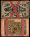 "Fractional Currency:Fifth Issue, ""Magic"" Flip-over Fractional Currency Wallet...."