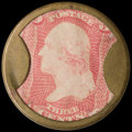 Encased Postage: , HB-18 EP-33 3¢ Take Ayer's Pills About New....
