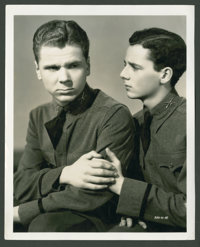 "Jackie Cooper and Freddie Bartholomew in ""The Spirit of Culver"" (Universal, 1939). Still (8"" X 10"")..."