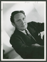 """Spencer Tracy by Clarence Sinclair Bull (MGM, 1937). Portrait Still (10"""" X 13""""). Miscellaneous"""