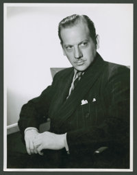 "Melvyn Douglas by Laszlo Willinger (MGM, 1938). Portrait Still (8"" X 10""). Miscellaneous"
