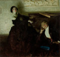 Paintings, DEAN CORNWELL (American, 1892-1960). Romantic Couple Seated by Piano, Hearst's International magazine illustration, Marc...