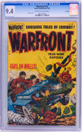 Golden Age (1938-1955):War, Warfront #25 File Copy (Harvey, 1955) CGC NM 9.4 Cream to off-whitepages....