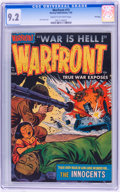 Golden Age (1938-1955):War, Warfront #13 File Copy (Harvey, 1953) CGC NM- 9.2 Cream tooff-white pages....