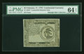 Colonial Notes:Continental Congress Issues, Continental Currency February 17, 1776 $3 Counterfeit Detector PMG Choice Uncirculated 64 EPQ....