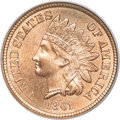 Indian Cents, 1861 1C MS67 PCGS. CAC....