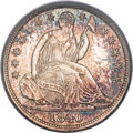Seated Half Dimes, 1840 H10C No Drapery MS66 PCGS....