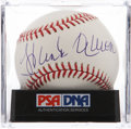 Autographs:Baseballs, Hank Aaron Single Signed Baseball PSA Mint 9. ...