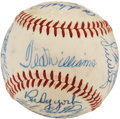 Autographs:Baseballs, 1959 Boston Red Sox Team Signed Baseball from Elden AukerCollection. ...