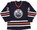 Hockey Collectibles:Uniforms, 2000-01 Todd Marchant Edmonton Oilers Game Worn Jersey....