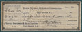 "Autographs:Inventors, Thomas Edison Check Signed ""Thos. A. Edison"", 8.5"" x 3""(sight), drawn on Savings Investment & Trust Company of EastOra... (Total: 2 Items)"