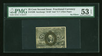 Fr. 1289 25¢ Second Issue PMG About Uncirculated 53 EPQ
