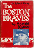 Autographs:Others, Boston Braves Signed Book. ...