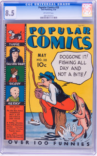 Popular Comics #28 (Dell, 1938) CGC VF+ 8.5 Off-white pages