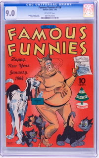 Famous Funnies #114 (Eastern Color, 1944) CGC VF/NM 9.0 Off-white pages