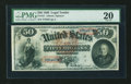 Large Size:Legal Tender Notes, Fr. 151 $50 1869 Legal Tender PMG Very Fine 20....