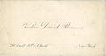 Lincoln Cents, Victor David Brenner Autograph Note on Business Card....