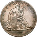 Gobrecht Dollars, 1839 P$1 Name Omitted, Judd-104 Restrike, Pollock-116, R.3, PR61PCGS....