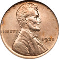 Errors, 1920 Lincoln Cent--Struck on a Type One Cuba One Centavo Planchet--MS64 NGC....
