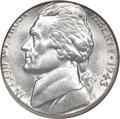 Errors, 1943-P Jefferson Nickel--Struck on a Type One Steel Cent Planchet--MS64 NGC....