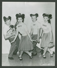 "Mickey Mouse Club (Walt Disney Productions, 1955). Television Stills (2) (7.5"" X 9""). Children's. ... (Total:..."