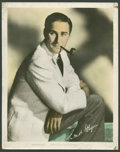 """Movie Posters:Miscellaneous, Errol Flynn (Warner Brothers, 1940s). Color-Glos Portrait Still(11"""" X 14""""). Miscellaneous.. ..."""
