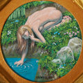 Original Comic Art:Paintings, Guy Colwell Touching Water Miniature Painting (2009)....
