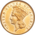 Three Dollar Gold Pieces, 1873 $3 Closed 3 MS61 PCGS....