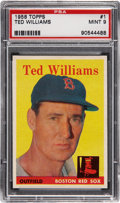 Baseball Cards:Singles (1950-1959), 1958 Topps Ted Williams #1 PSA Mint 9....