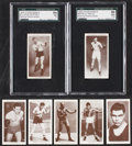 Boxing Cards:General, 1938 Churchman Boxing Complete Set (50). ...