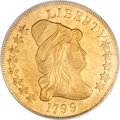 Early Eagles, 1799 $10 Large Stars Obverse MS62 PCGS....