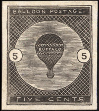 5¢ Trial Color Die Proof in Black on India (CL1TC)