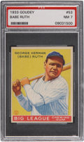 Baseball Cards:Singles (1930-1939), 1933 Goudey Babe Ruth #53 PSA NM 7....