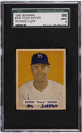 Baseball Cards:Singles (1940-1949), 1949 Bowman Duke Snider Rookie #226 SGC 96 Mint 9 - Pop 1-of-2,Highest Graded Example!...