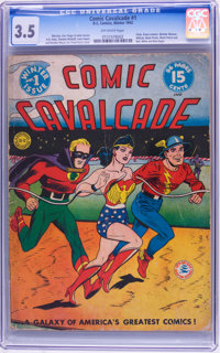 Comic Cavalcade #1 (DC, 1942) CGC VG- 3.5 Off-white pages