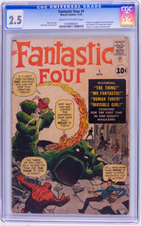 Fantastic Four #1 (Marvel, 1961) CGC GD+ 2.5 Cream to off-white pages