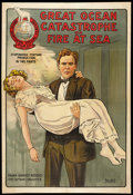"Movie Posters:Action, The Great Ocean Catastrophe (Great Northern Film Co., 1921). OneSheet (27.5"" X 40""). Action.. ..."