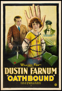 "Oathbound (Fox, 1922). One Sheet (27"" X 41""). Drama"