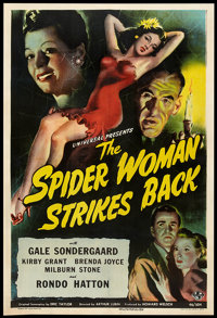 "The Spider Woman Strikes Back (Universal, 1946). One Sheet (27"" X 41""). Horror"