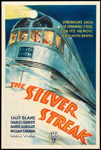 "The Silver Streak (RKO, 1934). One Sheet (27"" X 41""). Action"