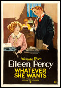 "Movie Posters:Comedy, Whatever She Wants (Fox, 1921). One Sheet (27"" X 41""). Comedy.. ..."