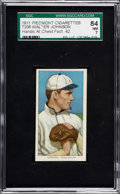 Baseball Cards:Singles (Pre-1930), 1909-11 T206 Walter Johnson Hands At Chest SGC 84 NM 7 - A Factory42 Rarity!...