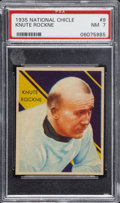 Football Cards:Singles (Pre-1950), 1935 National Chicle Knute Rockne #9 PSA NM 7....