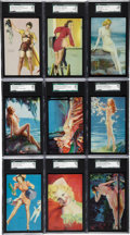 "Non-Sport Cards:Sets, 1940-45 Mutoscope ""All-American Girls"" High Grade Complete Set(32)...."