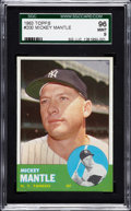 Baseball Cards:Singles (1960-1969), 1963 Topps Mickey Mantle #200 SGC 96 Mint 9....