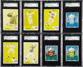 Football Cards:Lots, 1950 Bowman Proofs & 1960 Fleer Missing Inks Collection (8)....