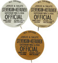 Political:Pinback Buttons (1896-present), Stevenson & Kefauver: Rare Chicago Slogan Pin in all Three Colors.... (Total: 3 Items)